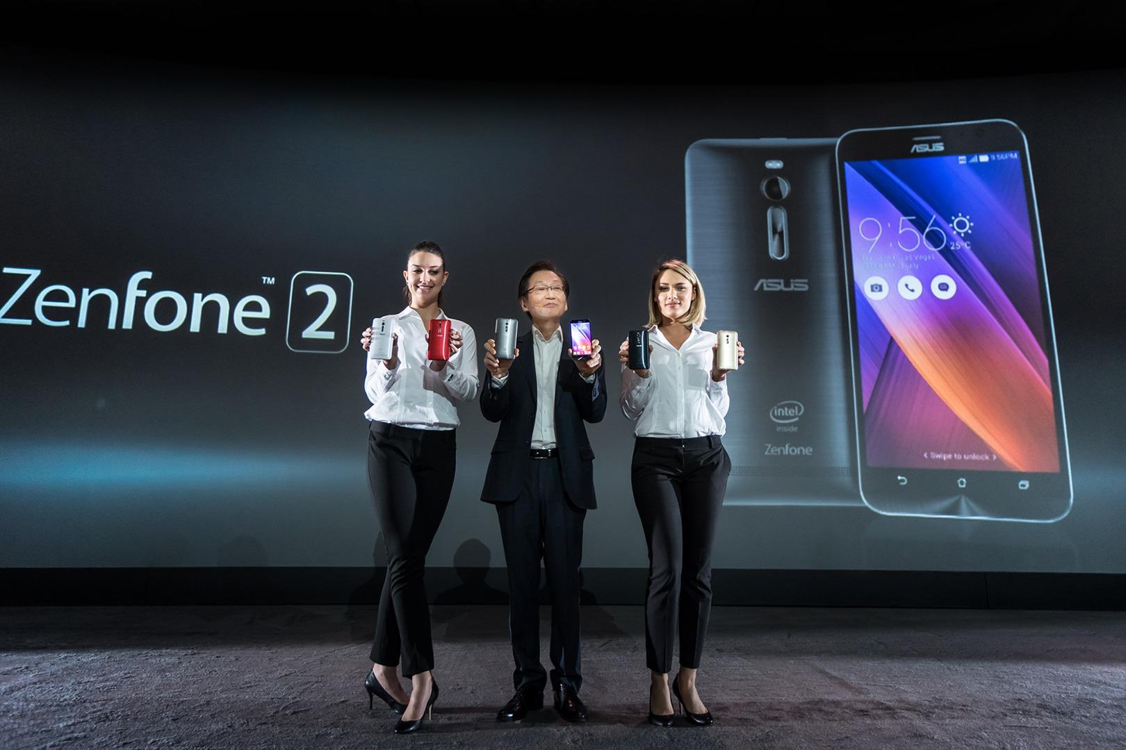 ASUS Chairman Jonney Shih introduces ZenFone 2 at CES 2015