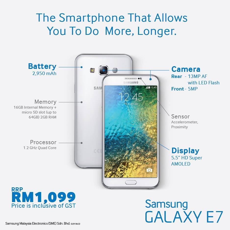 Samsung Galaxy E7 Malaysia