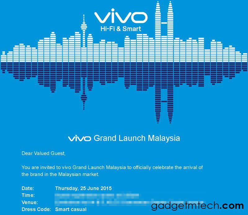 vivo Grand Launch Invitation
