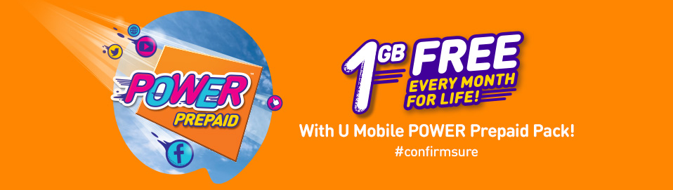 U Mobile POWER Prepaid Pack - 1