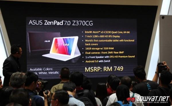 Asus Zenpad 7 price