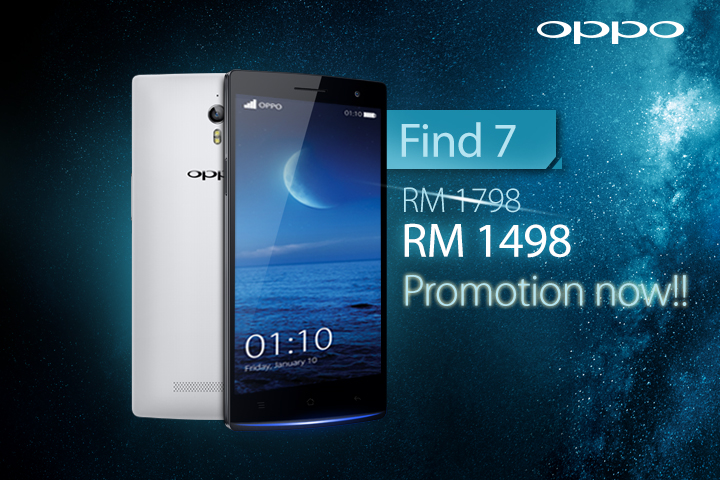OPPO Find 7 New Pricing