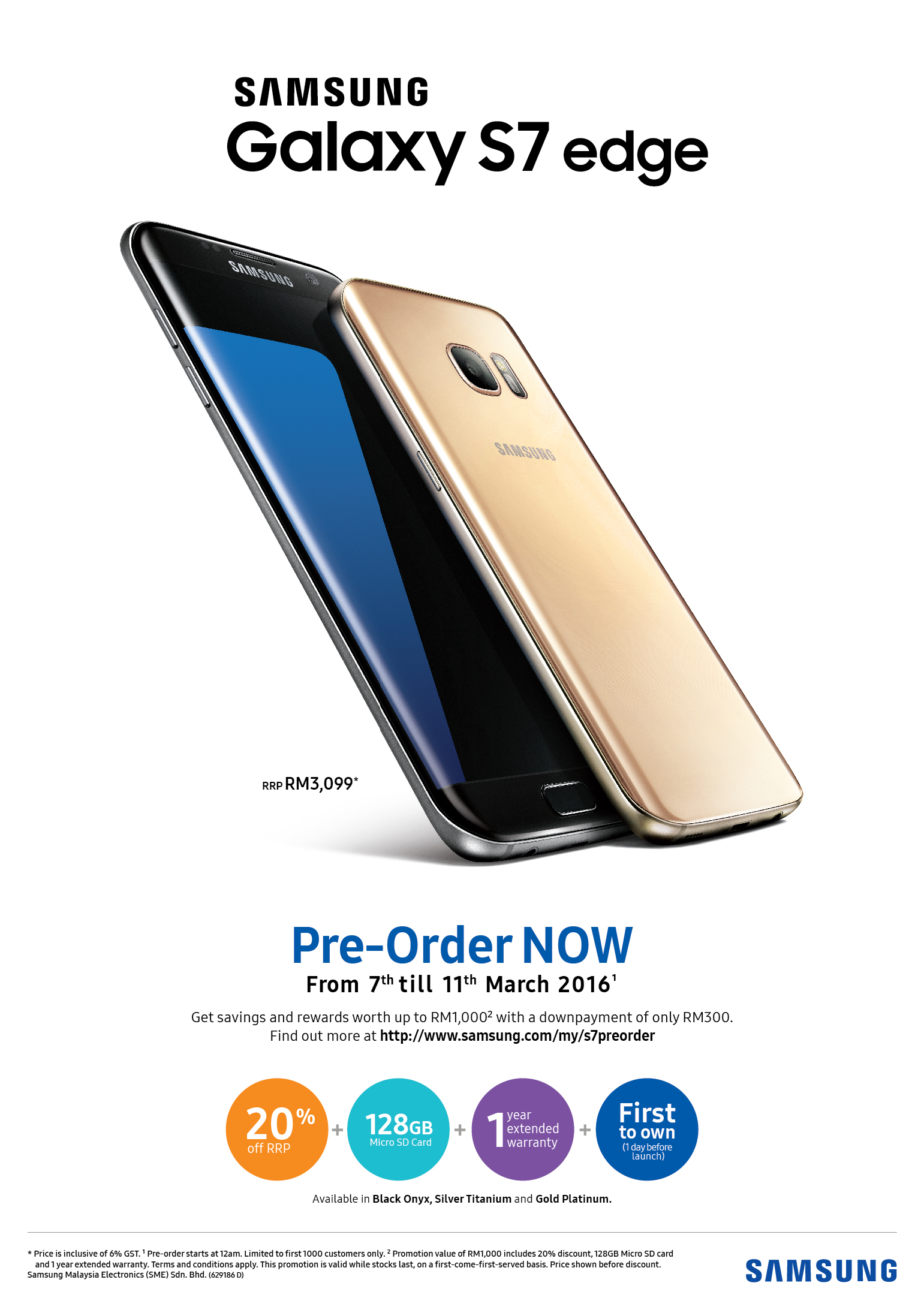 Samsung Galaxy S7 edge Pre-order Promotion