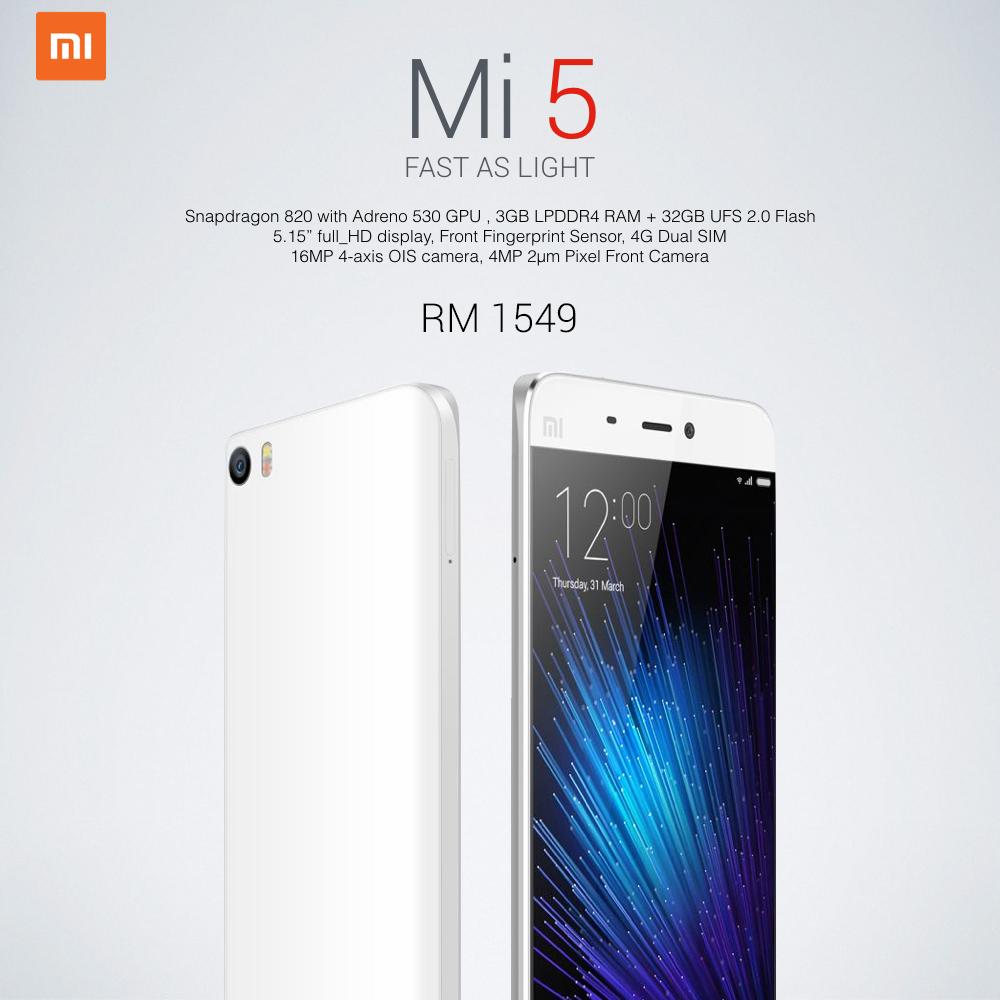 Xiaomi Mi 5 Malaysia