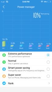 vivo V3Max Battery Mode