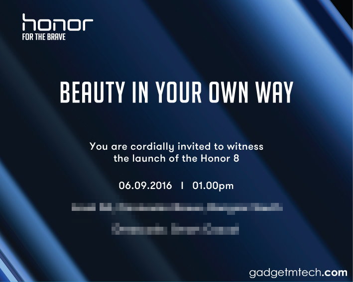 Honor 8 Launch Invite