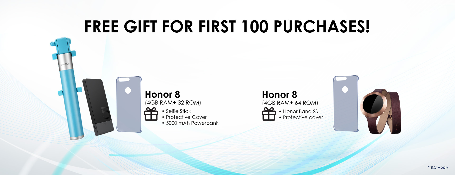Honor 8 First 100 Buyers Free Gifts