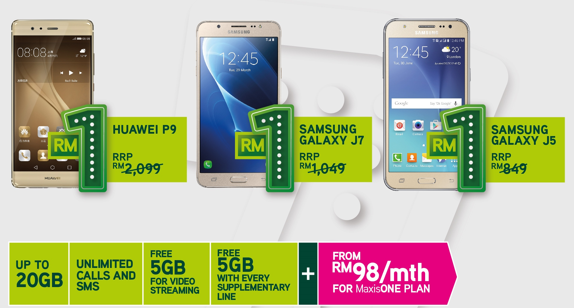 MaxisONE RM1 4G Smartphone