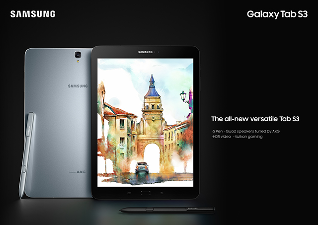 MWC 2017: Samsung Galaxy Tab S3 and Galaxy Book Officially Announced