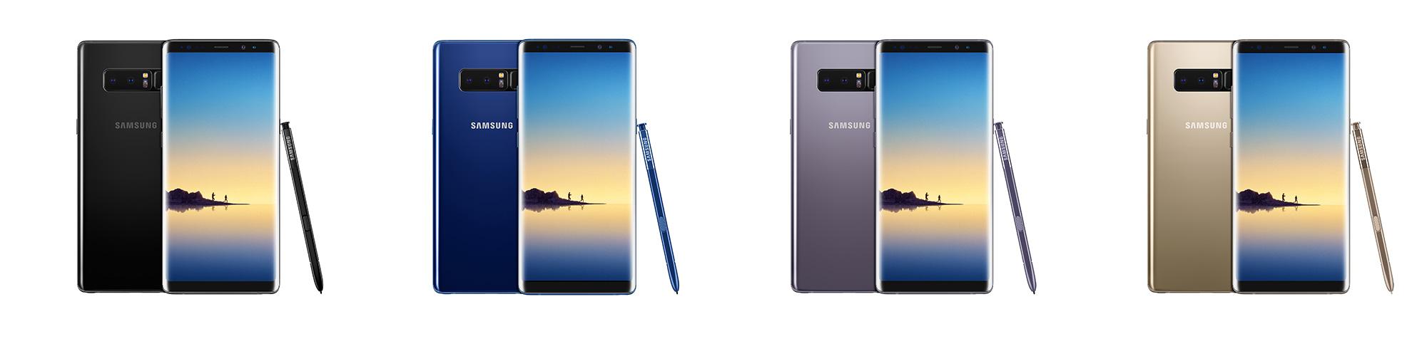 Samsung Galaxy Note8 Colors