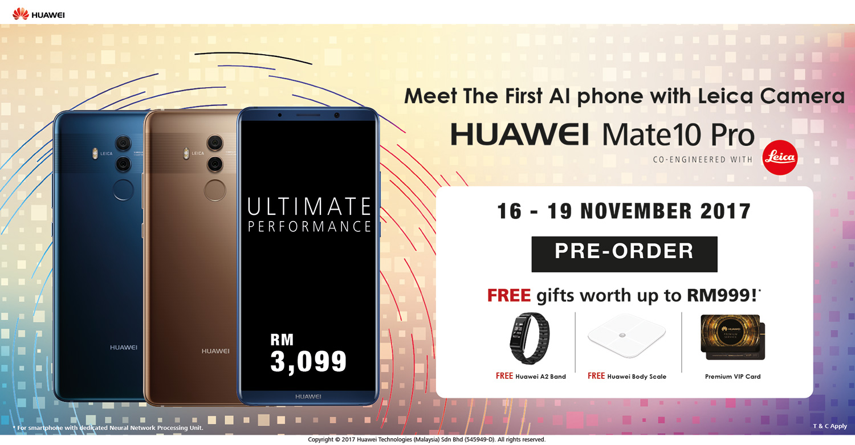 Huawei Mate 10 Pro Pre-Order Malaysia