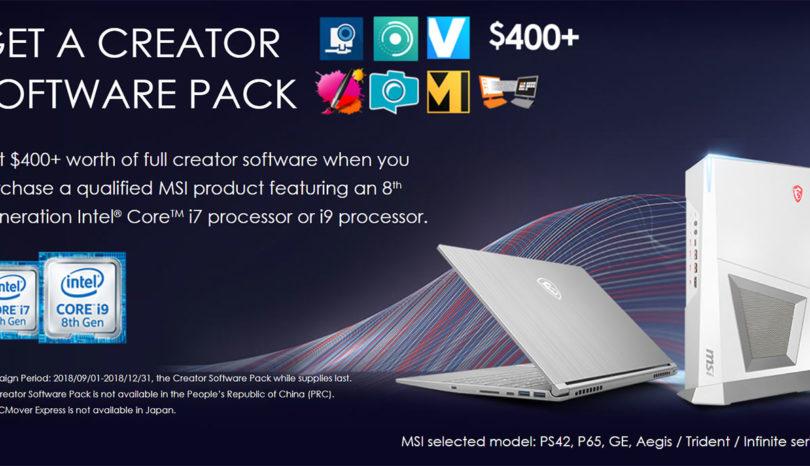 MSI Offers Creator Software Pack Bundle — GadgetMTech